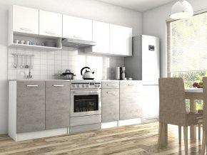 Kuchyňská linka Luigi 200/260 II bílá/beton