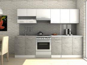 Kuchyňská linka Luigi III 200/260 bílá/beton