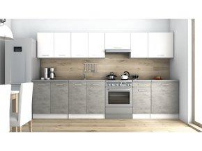 Kuchyňská linka Luigi 260/320 bílá/beton