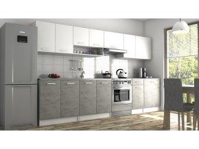 Kuchyňská linka Luigi II 260/320 bílá/beton