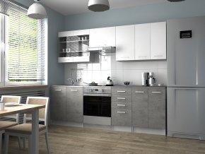 Kuchyňská Linka Pamis 180/240 bílá/beton