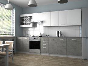 Kuchyňská Linka Pamis 260/320 bílá/beton