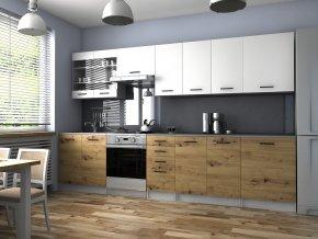 Kuchyňská Linka Pamis 260/320 bílá/dub artisan