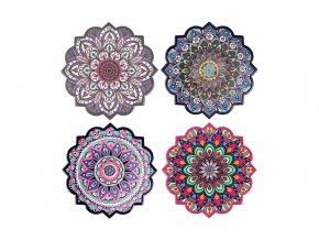 Keramický magnet, dekorace, mix 4 druhů, cena za 1 kus, lesklý dekor