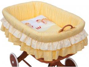 Proutěný košík na miminko Scarlett Dráček - žlutá
