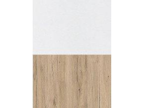 Noční stolek MEADOW dub sonoma/bílá