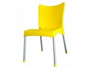 Zahradní židle VITA AL/PP plastová Žlutá