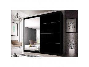 Šatní skříň MULTI 31 183 cm dub sono/černá