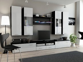 Obývací stěna DREAM Bílá lesk / bílá matná