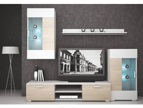 Obývací stěna CAPITOL dub sonoma/bílá mat