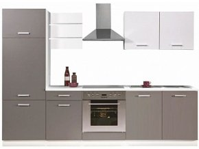 Kuchyňská linka SUPROMO 270 cm bílá mat/šedá