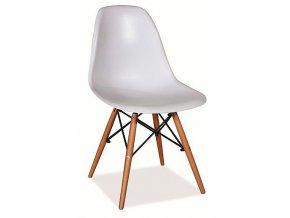Jídelní židle FRAY SF-100 bílá/buk