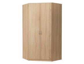 Rohová šatní skříň ALEX dub sonoma