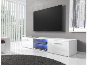 TV stolek RTV 03 s LED bílá/bílá lesk