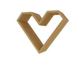 Police ve tvaru srdce ARIZA barva dub