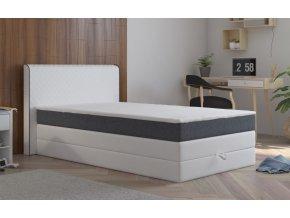 Postel s matrací a ÚP STANFORD 140x200cm (PUR - M120/I96)