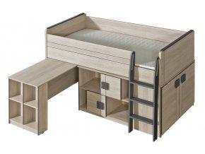 GIMMI G19 patrová postel (komplet G15 + G17) santana/šedá