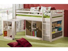 Dětská postel KAMIL vyvýšená se stolem