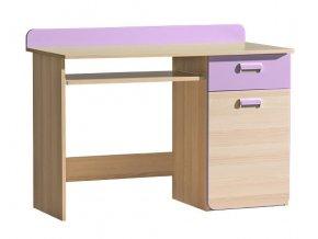 LIMO L10 pracovní stůl jasan/fialová