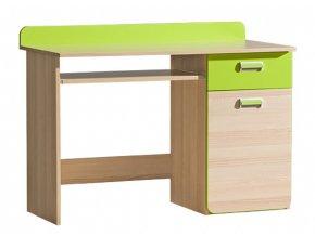 LIMO L10 pracovní stůl jasan/zelená