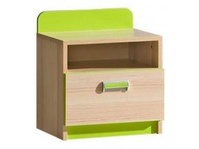 LIMO L12 noční stolek jasan/zelená