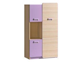 LIMO L5 kombinovaná skříňka jasan/fialová