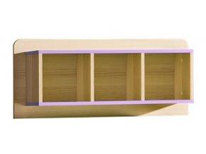 LIMO L9 závěsný regál jasan/fialová