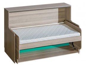 Kombinovaná sklápěcí postel ULTTIMO U16 jasan/zelená