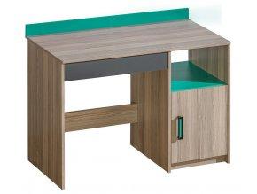 Psací stůl ULTTIMO U8 jasan/zelená