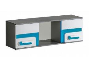 Závěsná skříňka APETTITA 10 antracit/tyrkys