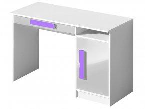Pracovní stůl GULLIWER 9 bílá lesk/fialová