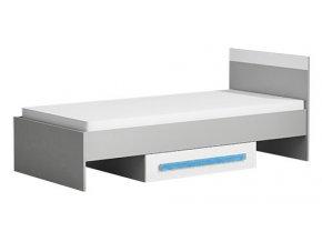 Postel 90x200 cm GYT 12 antracit/bílá/modrá