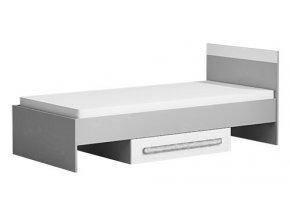 Postel 90x200 cm GYT 12 antracit/bílá/šedá
