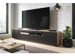 Televizní stolek SOMIN artisan/černý mat