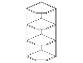 ROG horní otevřený roh PREMIUM de LUX hruška