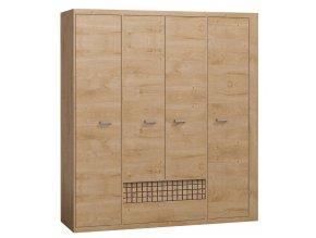 Šatní skříň NATURAL N3 dub ribbeck/vlnka