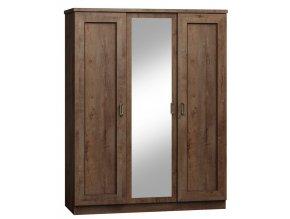 Šatní skříň se zrcadlem TADEÁŠ T-15 dub lefkas