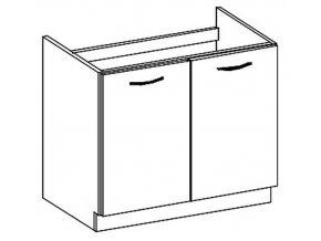 D80ZL dolní skříňka pod dřez CHAMONIX II