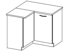 DRP dolní rohová skříňka CHAMONIX II levá