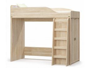 Poschoďová postel se skříní VALENCIA dub sonoma
