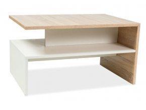 Konferenční stolek FRIDA dub sonoma/bílá