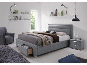 Čalouněná postel INES 160x200 šedá