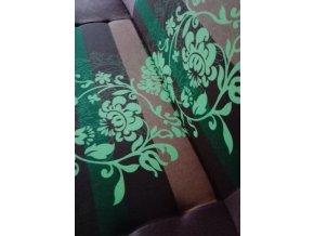 Pohovka Jasmín zelený květ