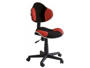 Kancelářská židle Q-G2 černá/červená
