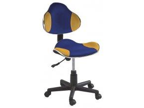 Kancelářská židle Q-G2 modrá/žlutá
