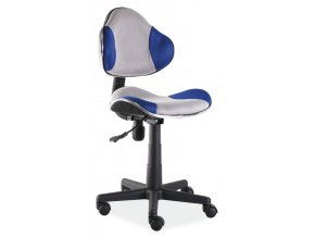 Kancelářská židle Q-G2 šedá/modrá