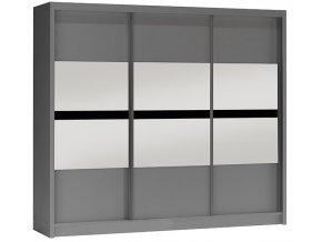 Šatní skříň BOGOTA 250 grafit/grafit