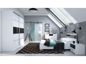 Ložnice CLEMENTE C (postel 160, skříň, komoda, 2 noční stolky)