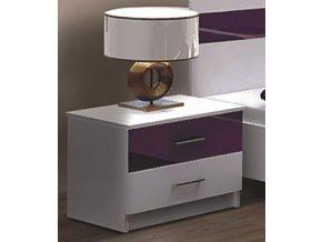 Noční stolek CLEMENTE fialový