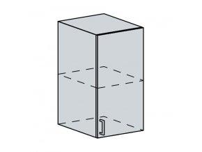 40H h. skříňka 1-dveřová ANASTASIA bříza